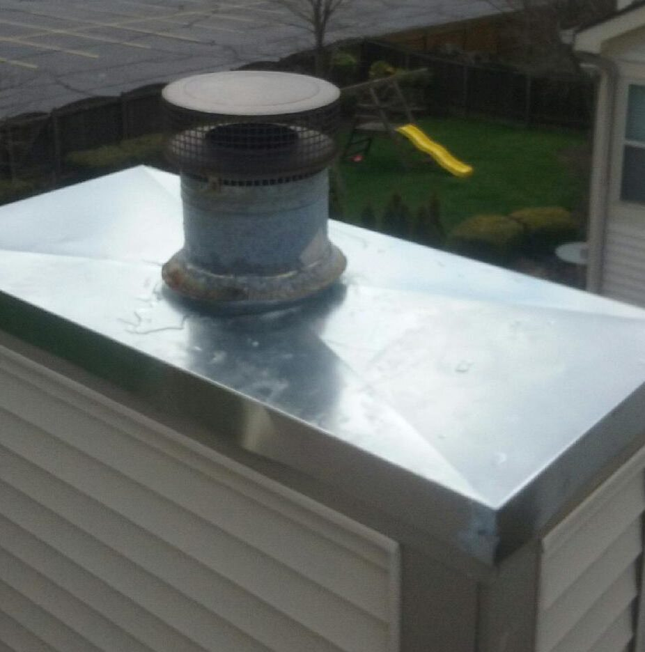 Replaced Chimney Chase Cover Columbus Ohio